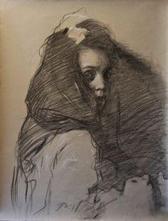 Drawing & Painting Journal : Dark Self Portrait
