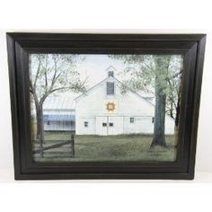 """Billy Jacobs """"Starburst Quilt Block Barn"""" - Primitive Country Rustic Art $44.99"""