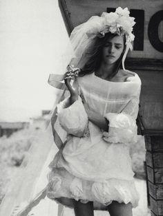 disheveled bride