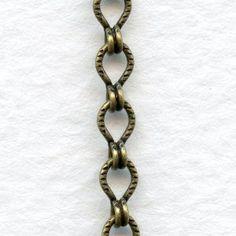 Ladder Chain Oxidized Brass 4x4mm Links ~ 3 FEET for $5.00