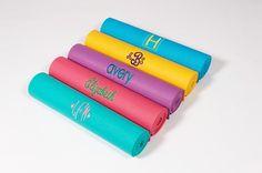 Custom Embroidered Yoga Mat by MyCustomYogaMat on Etsy, $40.00