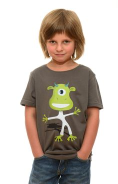 Marsmensch, Zyklop Shirt - fair, bio, für Kids www.printeshop.de