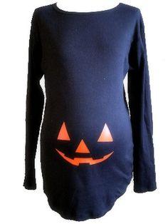 Halloween Pumpkin Maternity Costume T Shirt LONG sleeve on Etsy, $35.00