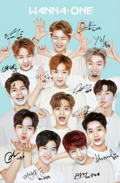 Wannaone unterzeichnen Plakat - Super K-Pop K Pop, Boom Boom Boom Boom, Jinyoung, Super Memes, Bae, Ong Seung Woo, All Meme, Guan Lin, Humor Mexicano