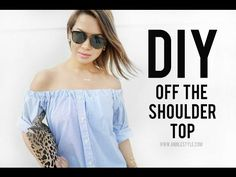 DIY Off The Shoulder Top Transformation | RELOVED | Ann Le Style