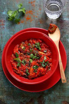 Taktouka, salade marocaine de poivrons et tomates