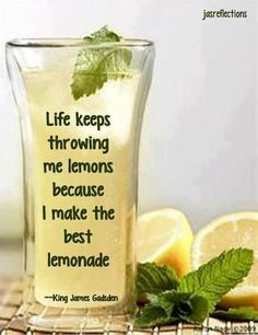 Life keeps throwing me lemons because I make the best lemonade Clever Quotes, Great Quotes, Inspirational Quotes, Best Lemonade, Pink Lemonade, Journal Quotes, Life Lesson Quotes, Life Lessons, It's All About Perspective