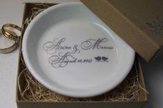 CUSTOM Elegant Ceramic Ring Holder  you choose by aphroditescanvas gr8 color options!