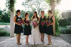 Renee Parsons & Tyler Windlinger's Austin wedding featuring Merveille Floral captured by Amber Kelley Photography as seen in Brides of Austin Navy Blue Bridesmaid Dresses, Navy Bridesmaid Dresses, Navy Dress, Wedding Dresses, Alternative Wedding, Perfect Wedding, Wild Flowers, Real Weddings, Lace Dresses