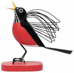 Round Robin Figure by Charley Harper, wood and metal