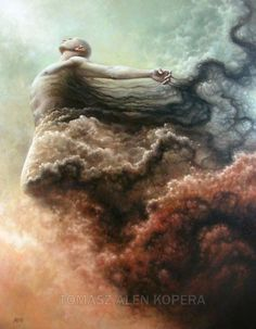"""Tomasz Alen Kopera is a 36 year old Polish artist now based in Ireland. His oil paintings represent both the duality and the combination of man and nature. He said that """"human nature and the mysteries of the Universe are his inspiration"""". Don't hesitate to check out his portfolio to see much more. ]"""
