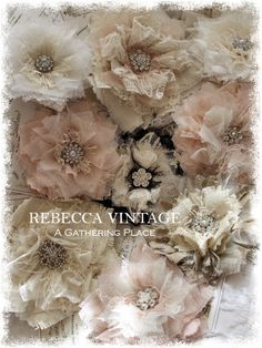 Tattered Lace & Linen Pins from REBECCA VINTAGE - A Gathering Place