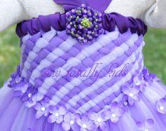 Flower Girl Dress tutu dress weave tutu dress by sewtotallykids, $125.00