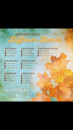 What to diffuse in the fall.