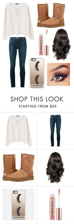"""""""Untitled #438"""" by ll1021 ❤ liked on Polyvore featuring MANGO, Frame, UGG Australia, Casetify and Urban Decay"""