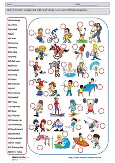 All worksheets free printable sports worksheets : sports worksheet - delibe Worksheets For Kids, Printable Worksheets, Printables, Music Worksheets, Free Printable, Time Activities, Sports Activities, Whatsapp Pink, Sports Templates