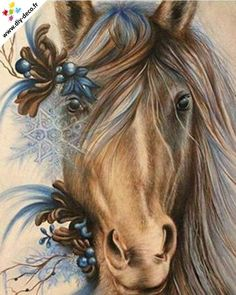 By: Sheena Pike ~ ART ~ coloured pencil, PanPastels Art. Horse, Blue horse, snowflake, Horse ART This piece can be purchased on my website. Horse Drawings, Animal Drawings, Art Drawings, Painted Horses, Pretty Horses, Beautiful Horses, Pike Art, Arte Fashion, Horse Artwork
