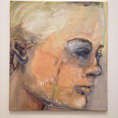 Romy Schneider by #MarleneDumas; Enorm geboeid door dergelijke rauwe kunst die raakt