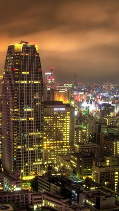 Night View,  Japan,  Tokyo iPhone 5 wallpapers, backgrounds, 640 x 1136