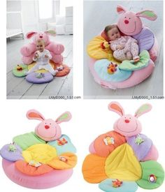 Baby Seat Picture - More Detailed Picture about Free Shipping ELC Rabbit Blossom Farm Sit Me Up Cosy Baby Seat Play Mat Nest Soft Sofa Toys Attached Picture in Birds from E L E Store