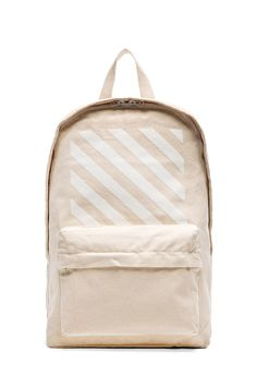 OFF-WHITE Canvas Backpack in Off White |