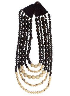 noonday : fairtrade bicolor wood necklace