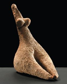 Female idol, found Gomal Valley in Pakistan, from Neolithic period, from Ismael Khan region - at the Museum of Barbier Mueller, Geneve