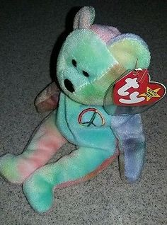 f3bd8a5f457 Collectible Rare TY BEANIE BABY PEACE DEUTSCHLAND RARE TAG ERROR PVC PELLETS