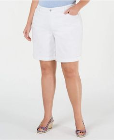 Charter Club Plus Size Denim Shorts, Created for Macy's - Bright White Source by macys Shorts Denim Shorts, Jeans, Trendy Plus Size, Baby Clothes Shops, Baby Shop, Dapper, Your Style, Clothes For Women, Bright