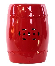 Look at this Red Ceramic Garden Stool on #zulily today!