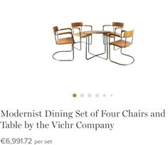 900c3718fc9e8 Table and 4 chairs Bauhaus style