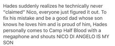 """And Nico just stand for a moment, then goes, """"Jules Albert was an embarrassment enough, but thanks dad."""""""