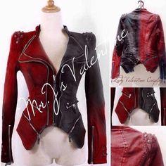 Punk Studded Harley Quinn jacket cosplay by MrJsValentine on Etsy