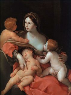 Charity - Guido Reni.  c.1630.  Oil on canvas.  137.2 x 106 cm.  Metropolitan Museum of Art, New York City NY, USA.