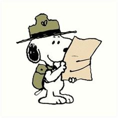Peanuts Gang and Scouting Snoopy
