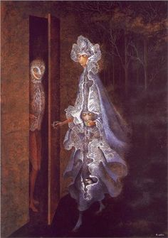 """""""The Gathering"""" by Remedios Varo (1908-1963) via Wikipaintings."""