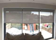 Sunscreen Roller Blinds For Large Windows And Sliding Door Living Room Hove Made