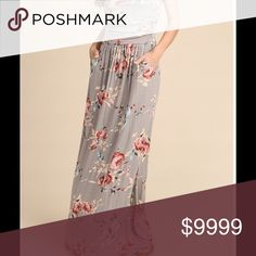 🌸COMING SOON🌸 FLORAL PRINTED TUBE DRESS WITH SIDE POCKETS 96% RAYON 4% SPANDEX. MADE IN USA Dresses Maxi