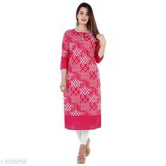Kurtis & Kurtas Women's Printed Cotton Kurti Fabric: Cotton Sleeve Length: Three-Quarter Sleeves Pattern: Printed Combo of: Single Sizes: S (Bust Size: 18 in Size Length: 36 in)  XL (Bust Size: 21 in Size Length: 42 in)  L (Bust Size: 20 in Size Length: 40 in)  M (Bust Size: 19 in Size Length: 38 in)  XXL (Bust Size: 22 in Size Length: 44 in) Country of Origin: India Sizes Available: S, M, L, XL, XXL   Catalog Rating: ★4 (439)  Catalog Name: Women Cotton A-line Printed Orange Kurti CatalogID_1048977 C74-SC1001 Code: 892-6583732-237