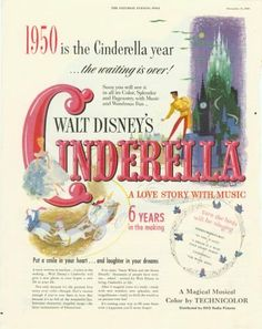 Walt Disney's Cinderella - A Love Story With Music.