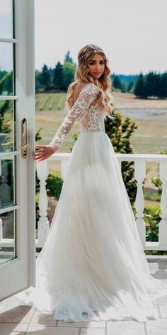 See through long sleeve boho wedding dress. Floral and beaded bodice rustic wedding dress. See through long sleeve boho wedding dress. Floral and beaded bodice rustic wedding dress. Long Sleeve Wedding Dress Boho, Country Wedding Dresses, Bohemian Wedding Dresses, Wedding Dresses Plus Size, Modest Wedding Dresses, Bridal Dresses, Wedding Gowns, Beaded Dresses, Wedding Ceremony