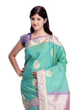 Kanjivaram Handloom Silk Sari @ Rs.8,175.00  #Sarees #Sari #WomensFashion #Fashiontra