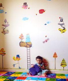 Adesivo de parede - Mundo da Lila - shopkola.com.br