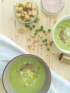 Cream Soup, Green Peas, Hummus, Mint, Baking, Ethnic Recipes, Food, Bakken, Eten