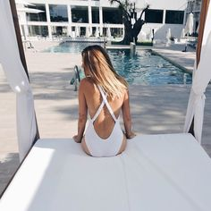 Beautiful bathing suit in white <3 Click on the photo and check out YouQueen.com guide to hot and trendy swimsuit styles of the season