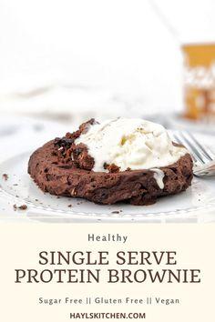 Protein Brownies, Protein Desserts, Healthy Brownies, No Bake Brownies, Healthy Desserts, Gluten, Chocolate Protein Powder, Healthy Sweet Treats, Sugar Eggs