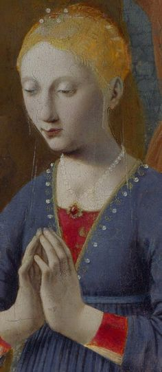 Piero della Francesca - Madonna della Natività - olio su tavola - ultima fase artistica 1470-1475 (o secondo alcuni fino al 1485) - National Gallery di Londra.