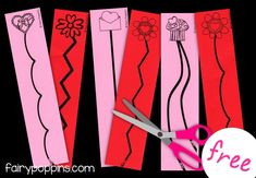 Valentine's Day cutting practice worksheets (free) - Fairy Poppins