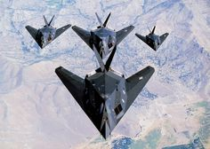 F-117 Nighthawks. Great plane