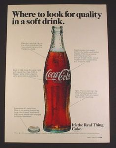코카콜라 코크에 대한 코카콜라 잡지 광고 잡지 광고